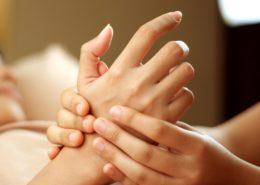 Massaging hand